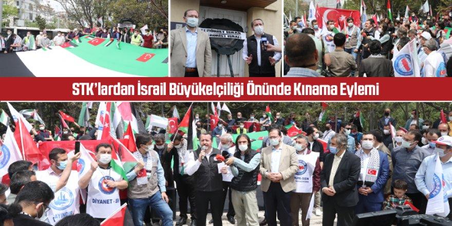 STK'lardan İsrail Büyükelçiliği Önünde Kınama Eylemi