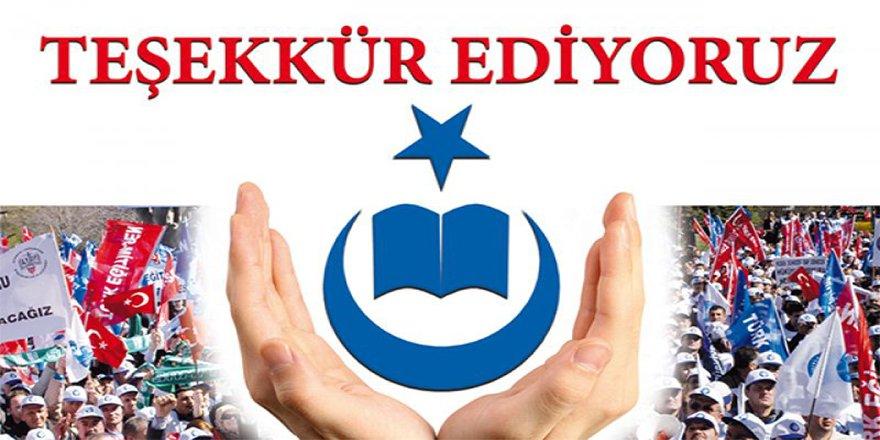Talip Geylan:  213 bin 888 eğitim çalışanına teşekkür ediyoruz!