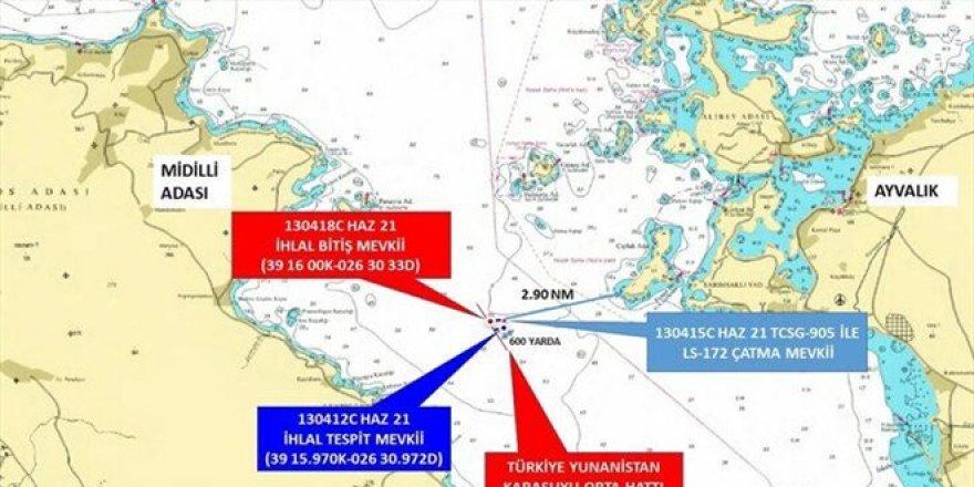 Ege'de sıcak saatler! Türk kara sularından çıkarıldı