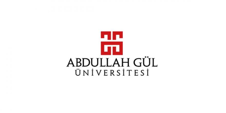 Abdullah Gül Üniversitesi Öğretim Üyesi Alım İlanı
