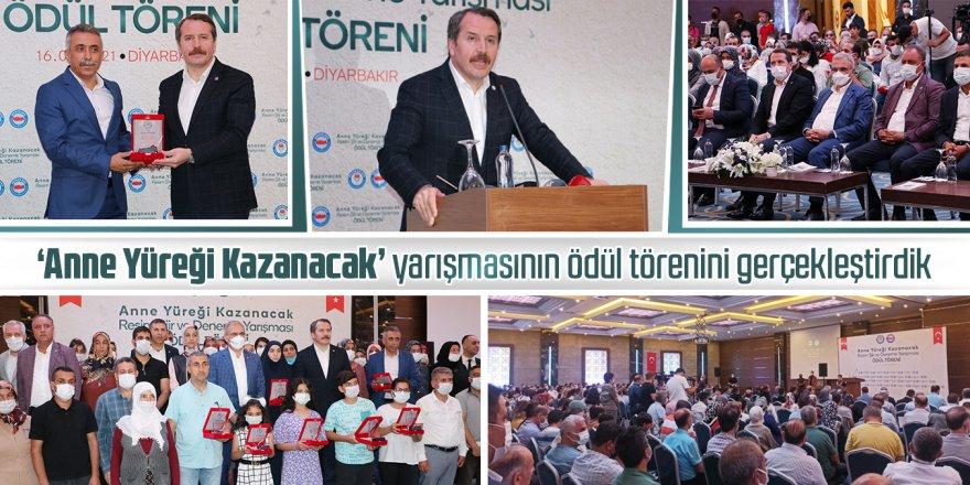 Ali Yalçın, Diyarbakır Annelerini konu alan yarışmanın ödül töreninde konuştu