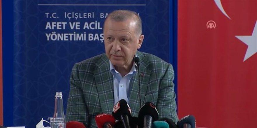 Erdoğan: Afet bölgesine 50 milyon lira ödenek gönderilmiştir