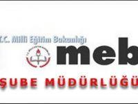 MEB şube müdürleri tayin sonuçları