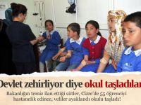 Cizre'de 55 öğrenci 'süt'ten hastanelik
