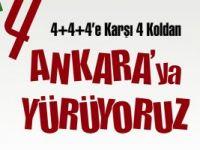 Eğitim-Senden Ankaraya 4+4+4 yürüyüşü