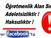 Öğretmenlik Alan Sınavı'na Tepki Facebook'ta