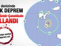 Ege'de 6.2 şiddetinde deprem