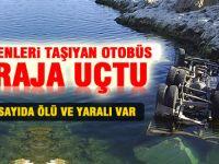 Kayseri'de  Otobüs Baraja Uçtu