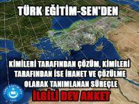 """Türk Eğitim-Sen'in """"Çözüm mü İhanet mi?"""" Anket Sonuçları"""