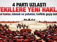 Milletvekillerine yeni haklar geliyor
