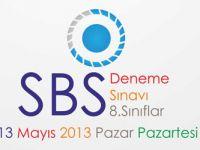 Töder Sbs deneme sınavı soruları 12-13 Mayıs 2013