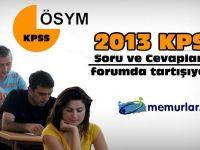 2013 yılı KPSS GY-GK soru ve cevaplarını tartışıyoruz