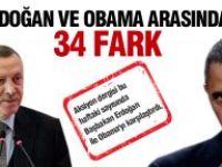 Erdoğan ve Obama arasındaki 34 fark