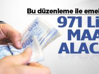 Malulen emekliliğe ayrılana 971 lira maaş