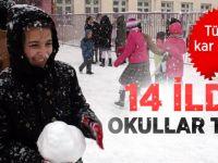 Kar tatili olan iller 11 Aralık 2013