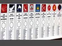 30 Mart Yerel Seçimlerine katılacak partiler