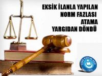 MEB'de norm fazlası atama yargıdan döndü