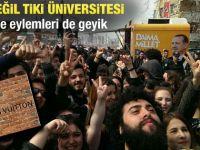 Yeditepe Üniversitesi'nde AKP protestosu