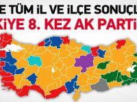 İşte ilçelerde yerel seçim sonuçları