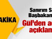 Gül'den Cumhurbaşkanlığı açıklaması