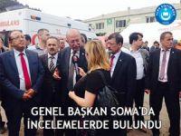 Genel Başkan Koncuk, Soma'da İncelemelerde Bulundu