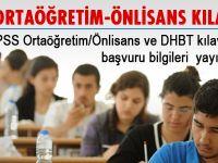 KPSS Ortaöğretim/Ön Lisans-DHBT Kılavuzu yayınlandı