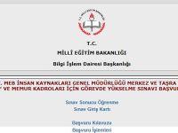 MEB görevde yükselme başvuru sayfası