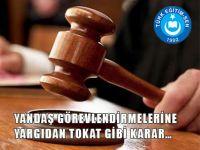 Şube Müdürlüğünde Yargı İptali