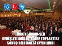 Türkiye Kamu-Sen Antalya Toplantısı Sonuç Bildirgesi