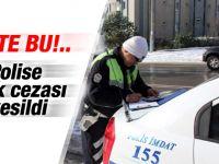 Trafik polisine park cezası kesildi