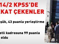 KPSS'de, en düşük, 43 puanla atama yapıldı