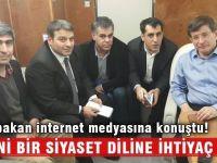 Başbakan Davutoğlu: Yeni bir siyaset diline ihtiyaç var!