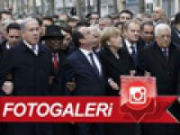 Dünya liderleri teröre karşı yürüdü