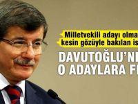 Bürokrat adaya Ahmet Davutoğlu freni
