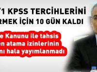 Kurumlar, 2015/1 KPSS tercihlerini bildirmek için Başbakanlığı bekliyor