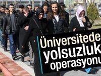 Üniversitesitede yolsuzluk operasyonu