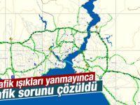 Elektrik kesintisi İstanbul trafiğini etkilemedi
