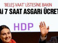 HDP seçim vaatleri asgari ücrete bakın!