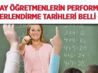 Aday öğretmenlerin performans değerlendirme tarihleri belli oldu
