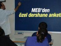 MEB'den özel dershane anketi