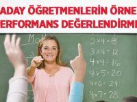 Aday Öğretmenlerin Örnek Performans Değerlendirmesi
