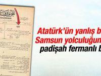 Bardakçı Atatürk'ün Samsun'a çıkış belgesini paylaştı