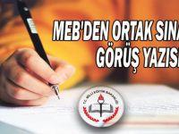 MEB'den Ortak Sınavlar Görüş Yazısı