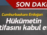 Davutoğlu, Erdoğan'a istifasını sundu