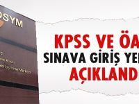 KPSS ve ÖABT sınava giriş yerleri açıklandı