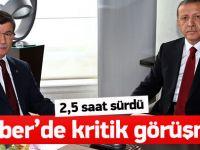 Erdoğan-Davutoğlu görüşmesi sona erdi
