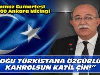 Koncuk'tan Doğu Türkistan Mitingine Çağrı