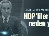 Arınç'tan HDP'ye şok Suruç suçlaması!