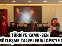 Türkiye Kamu-Sen Taleplerini DPB'ye Sundu