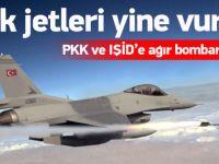 PKK ve IŞİD'e 'ağır' bombardıman